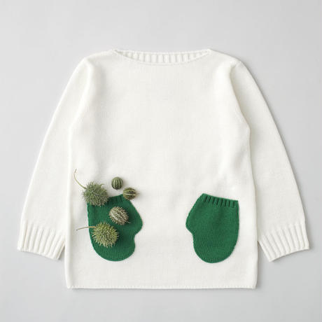 """friendly knit"" mitten sweater green"