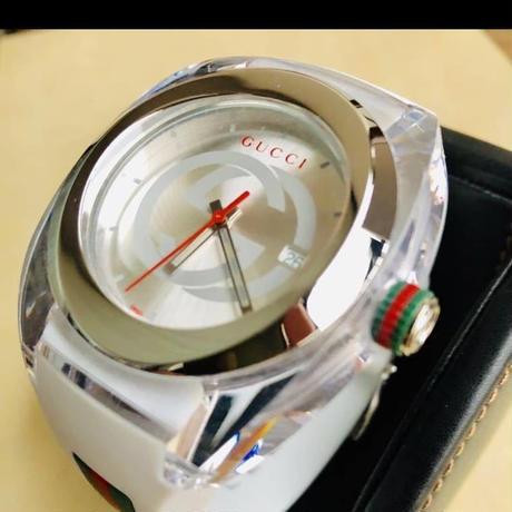 ☆海外限定◆新品◆GUCCI SYNC XXL 定価約6万◆クォーツ◆腕時計