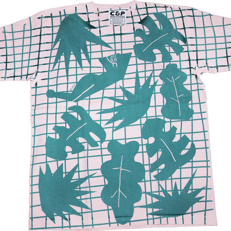 WOMAN & LEAVES all-over printed tee