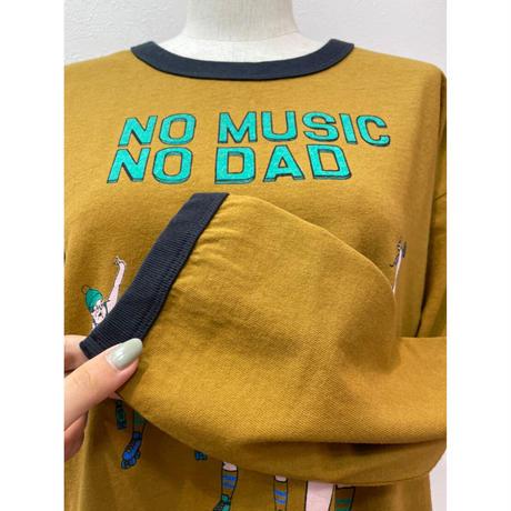 LIME.NO DADリンガーTシャツ(マスタード).P1003
