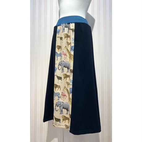 MORIyumi.台形スカート(アニマル柄).O0375