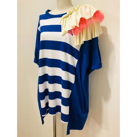 MORIyumi肩フリルリメイクTシャツ.P061