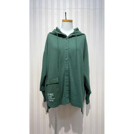 LIME.サーマルパーカージャケット(グリーン).O0689
