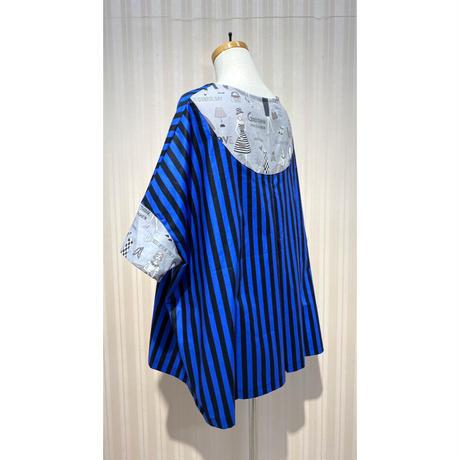 MORIyumi.ワイドTシャツ(ストライプ×人柄).O0596