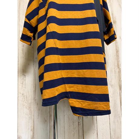 ボーダードルマンTシャツ(ブラウン).1572