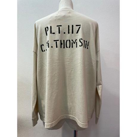 LIME.USAプリントロングTシャツ(ベージュ).P1006
