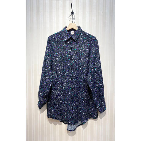 MORIyumi.ワイドチュニックシャツ(黒ミックスカラー).O0678