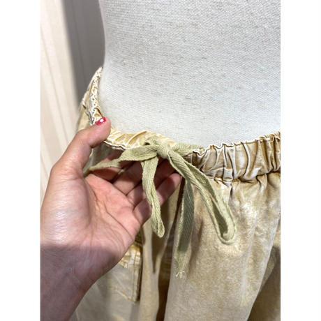 硫化染め変形スカート.O0608