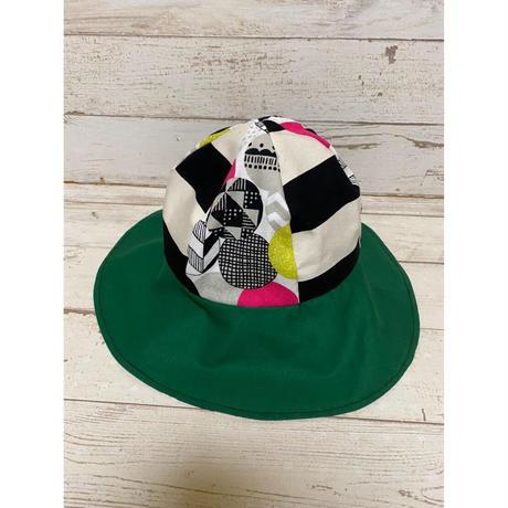 MORIyumi.帽子(ボーダー×グリーン).1540