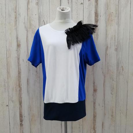 MORIyumi肩フリルリメイクTシャツ.685