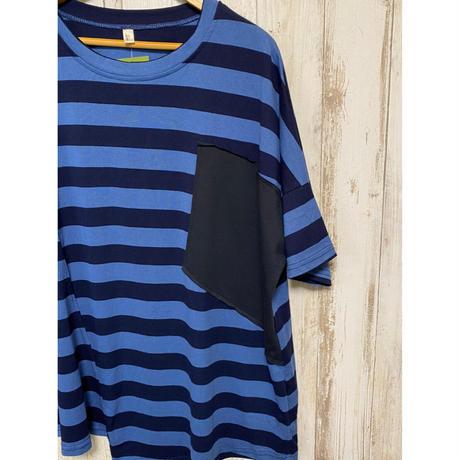 ボーダードルマンTシャツ(ネイビー).1573