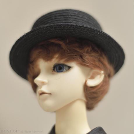 カンカン帽 (黒)