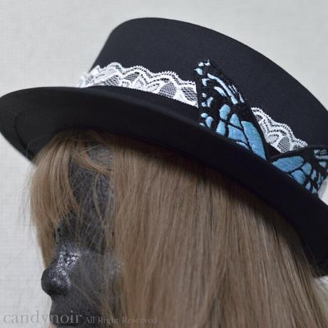 アサギマダラのカンカン帽(BLACK)