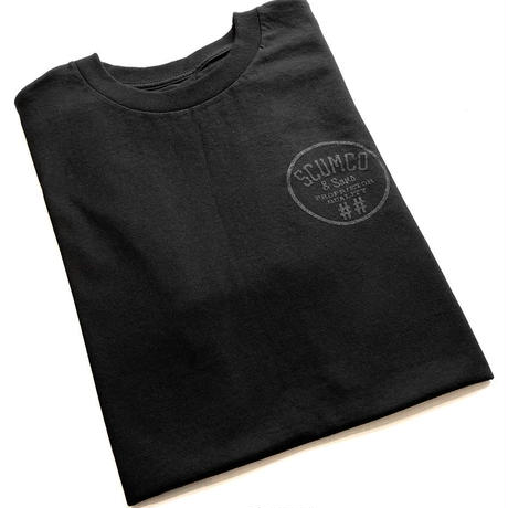 SCUMCO AND SONS BLACK ON BLACK TEE