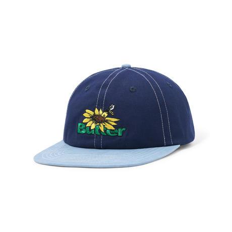 BUTTER GOODS SUNFLOWER 6 PANEL CAP NAVY/WASHED BLUE