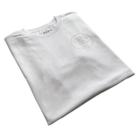 SCUMCO AND SONS WHITE ON WHITE TEE