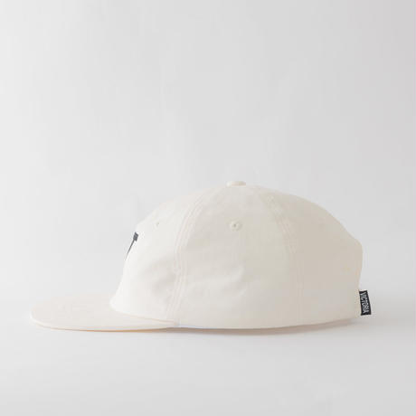 VICTORIA HONG KONG BRUSHED TWILL 'V' HAT OFFWHITE