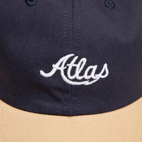ATLAS SKATESHOP LOGO BOFA 6PANEL HAT  NAVY/TAN