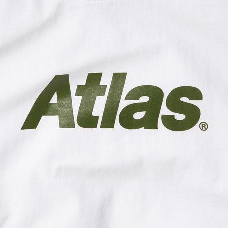 ATLAS SKATESHOP LOGO TEE WHITE