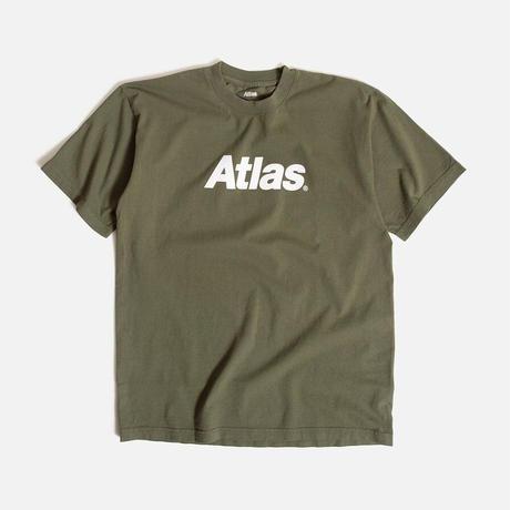 ATLAS SKATESHOP LOGO TEE ARMY GREEN