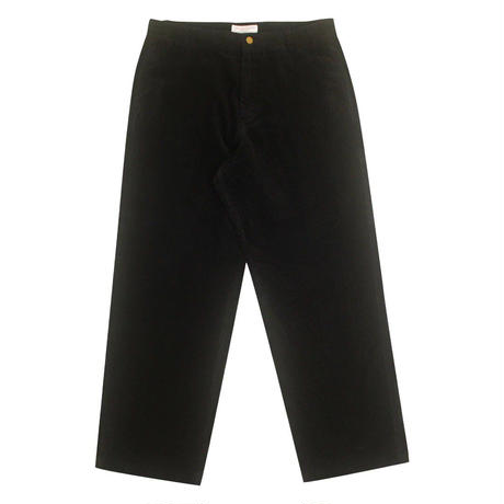 YARDSALE YS CORDUROY SLACKS BLACK