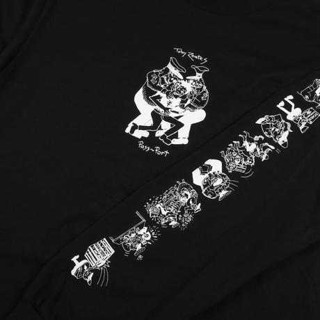 PASS~PORT TOBY ZOATES COPPERS L/S TEE BLACK
