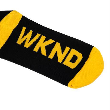 WKND STRIPE SOCK BLACK