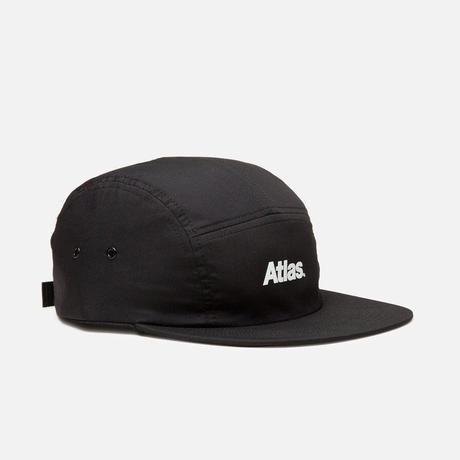 ATLAS SKATESHOP LOGO 5PANEL HAT BLACK