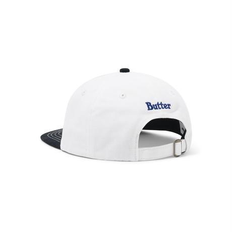 BUTTER GOODS APPLE 6 PANEL CAP WHITE/BLACK