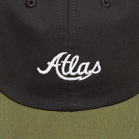 ATLAS SKATESHOP LOGO BOFA 6PANEL HAT  BLACK/OLIVE