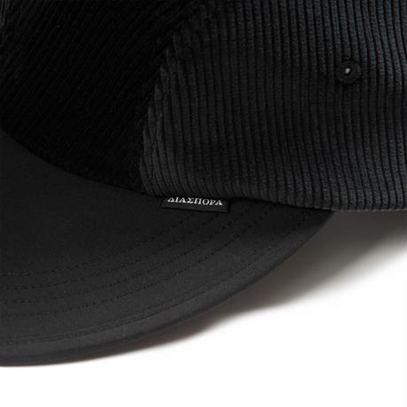 DIASPORA SKATEBOARDS BITTER CORDS SOFT VISOR CAP BLACK
