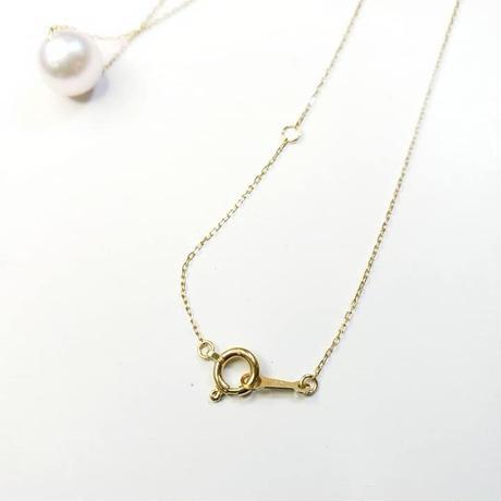 K18あこや本真珠スルーネックレス