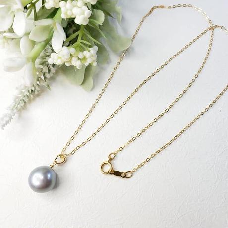 Mimi ~K18 ブルーグレーのバロック真珠~