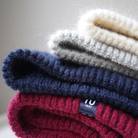 もふもふ、ふわふわ。ウールとアンゴラのニット帽