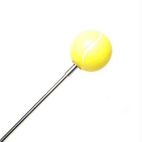 【サーブ・ストローク練習用】先端にテニスボールが付いたスイングトレーニング指示棒