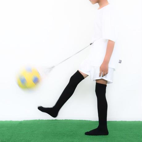 【リフティングが上手くなるボールネット】カピタン パラコード ボールネット コンビ<指導者用>(ブラック×オレンジレッド)