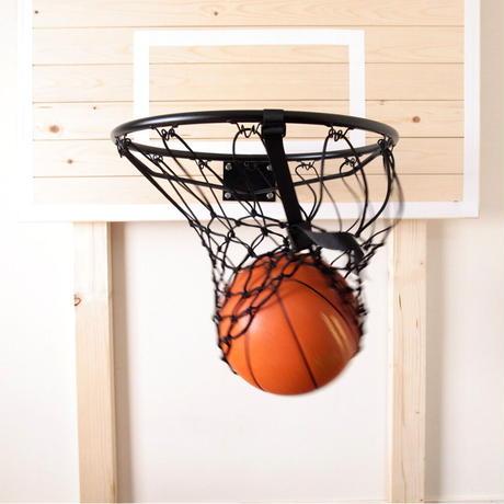 【フリースローが上手くなるリングネット】バスケット ゴールリングネット ソリッド(ブラック)