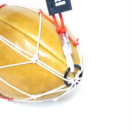 カピタン パラコード スリムフィット ラグビー ボールネット コンビ<フック付き>(ホワイト×レッド)