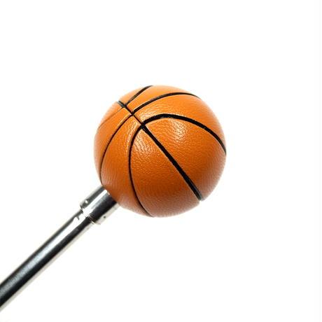 【指導者・解説者向け】先端にバスケットボールが付いた説明用指示棒(ストラップなし)