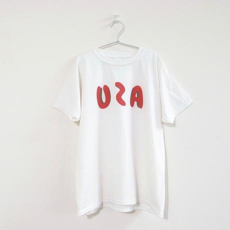 【OSOROI】USAのように見えるロゴTシャツ<UZA>