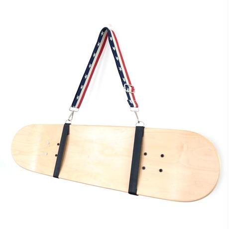 【スケボー用ショルダーストラップ】斜め掛けできるスケートボードホルダー(星条旗)