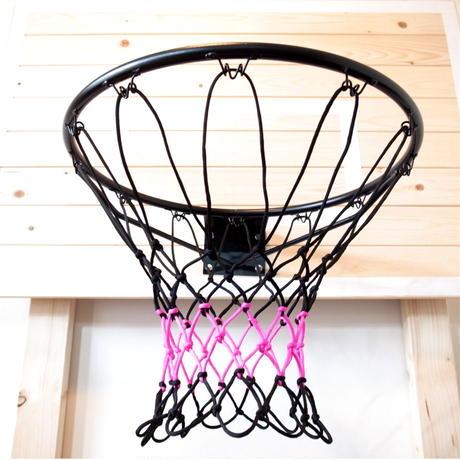 バスケットボール用ゴールネット コンビ(ブラック×ピンク)