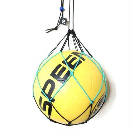 【リフティングが上手くなるボールネット】カピタン  パラコード ボールネット コンビ(ブラック×エメラルドグリーン)