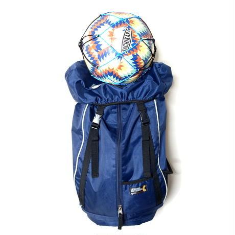 【バッグに付けるボールホルダー】カピタン スリムフィット ボールネット コンビ リフレクト<フック付き>(ブラック×マリンブルー)