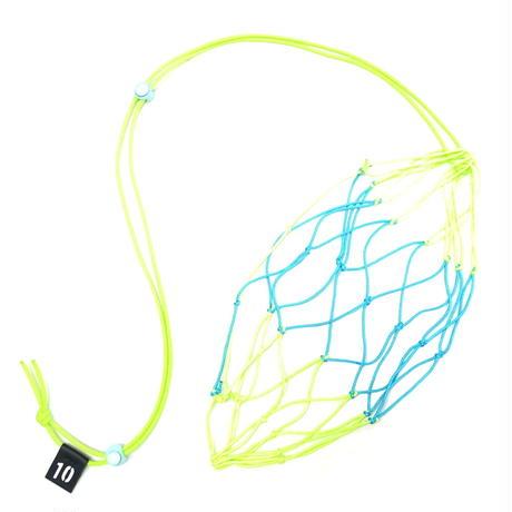 【リフティングが上手くなるボールネット】カピタン  パラコード ボールネット コンビ(ネオングリーン×セルリアンブルー)