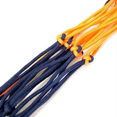 【バッグに付けるボールホルダー】カピタン スリムフィット ボールネット コンビ<フック付き>(ネイビー×オレンジ)