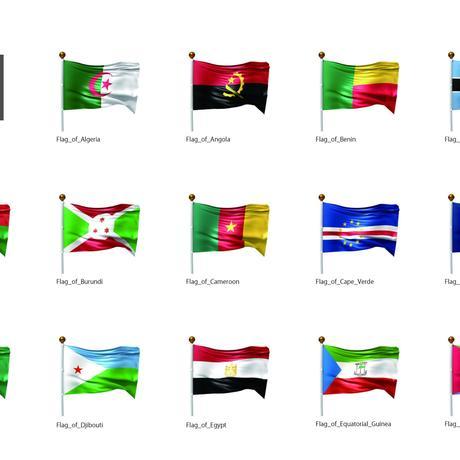 旗(アフリカ)_イラスト1