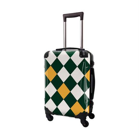 アートスーツケース #CRA01H-037I|ダイヤモンドチェック(モスグリーン×ネーブルスイエロー)