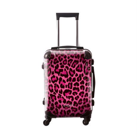 アートスーツケース #CRA01H-003C|ベージック 豹(ピンク)
