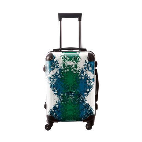 アートスーツケース #CRA01H-032C|ポップニズム  クロスジャック(グリーン×ブルー)